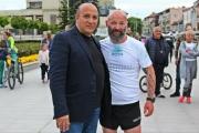 Кметът на община Панагюрище Никола Белишки подкрепи Краси Георгиев по маршрута на Коридор №8